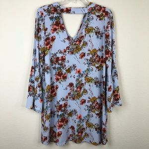 Mossimo Floral print bell sleeve dress size small